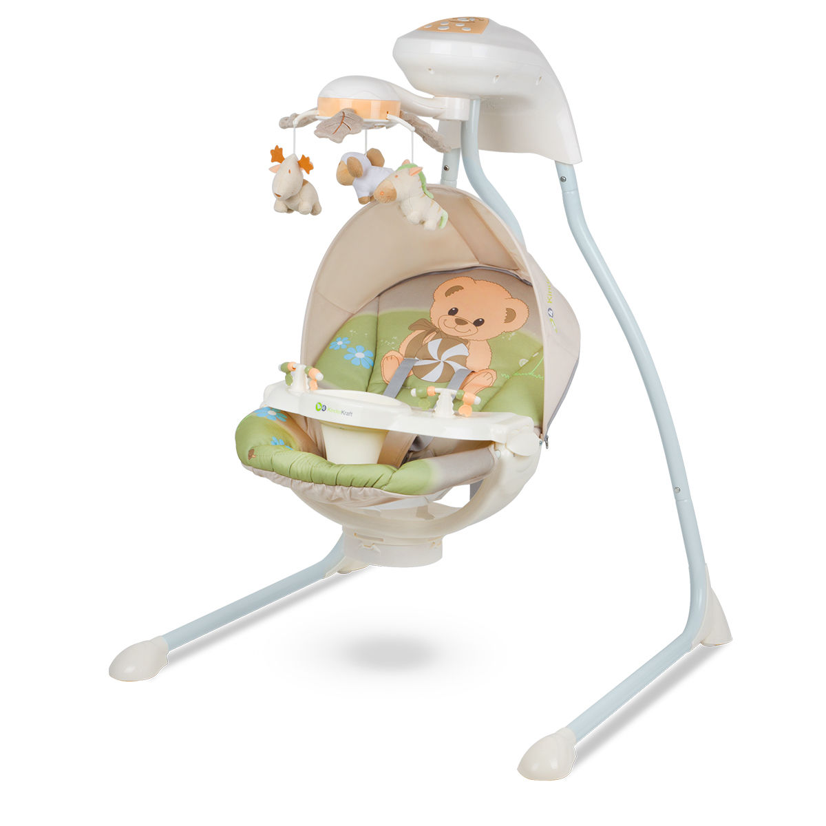 Kinderkraft teddy bear baby bouncing chair swing seat for Cuisine kinderkraft