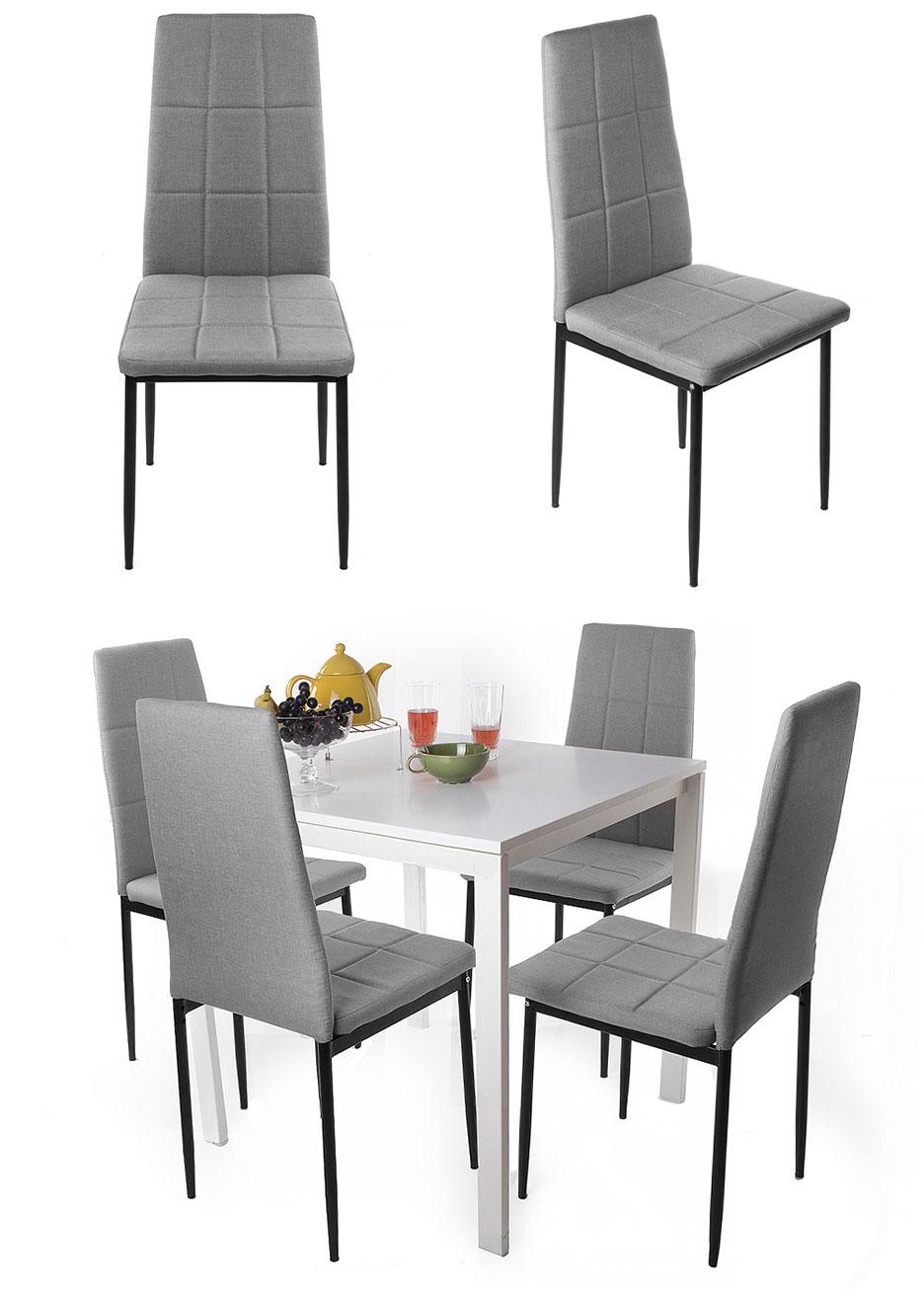 4 set chaise de salle manger cuisine ensemble si ges for Chaise 150 kg