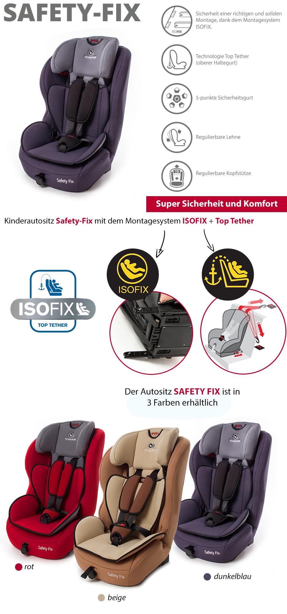 kinderkraft isofix safety fix kinderautositz 9 36kg beige 5 punkte autositz ebay. Black Bedroom Furniture Sets. Home Design Ideas