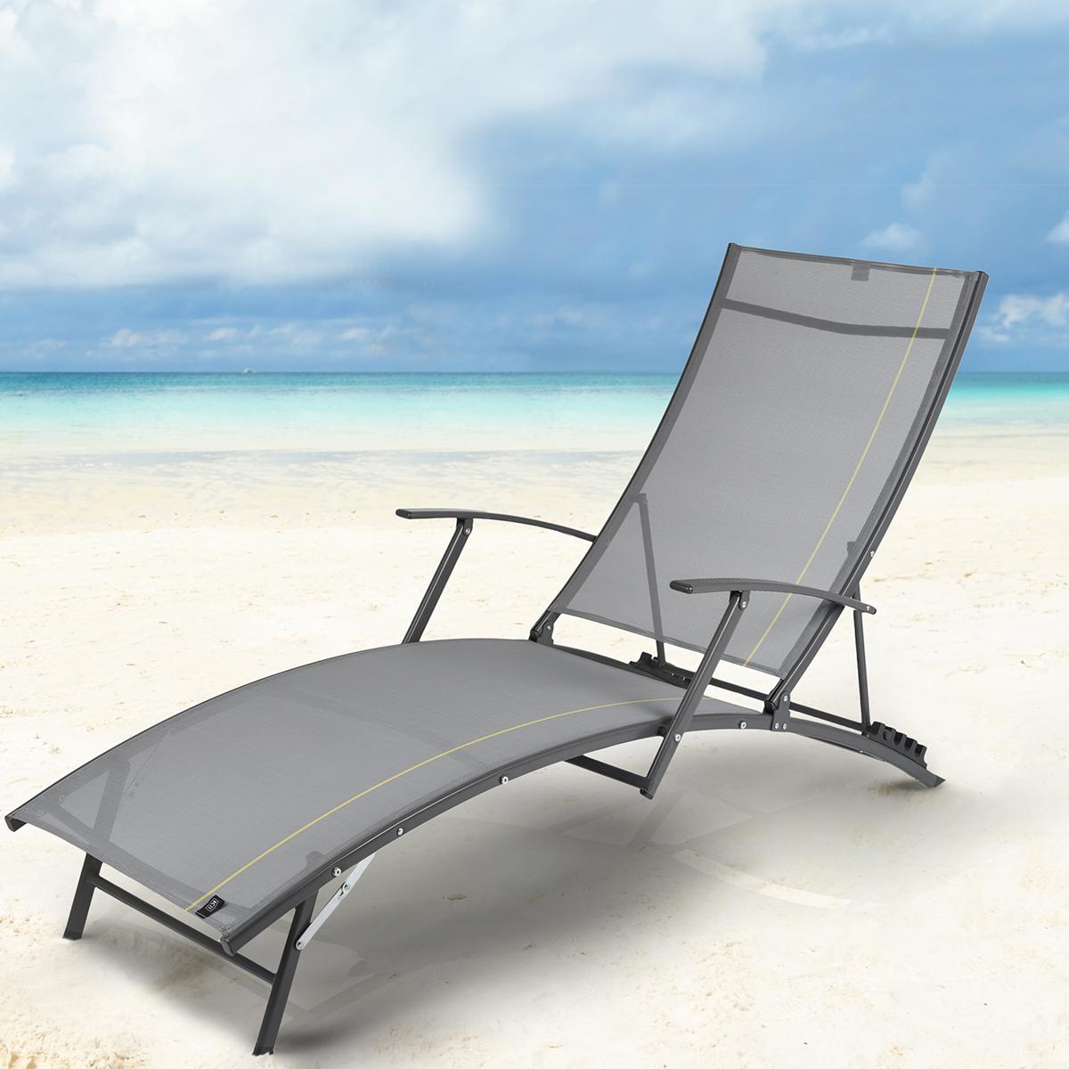 gartenliege sonnenliege freizeitliege relaxliege liegestuhl strandliege neu jawa ebay. Black Bedroom Furniture Sets. Home Design Ideas