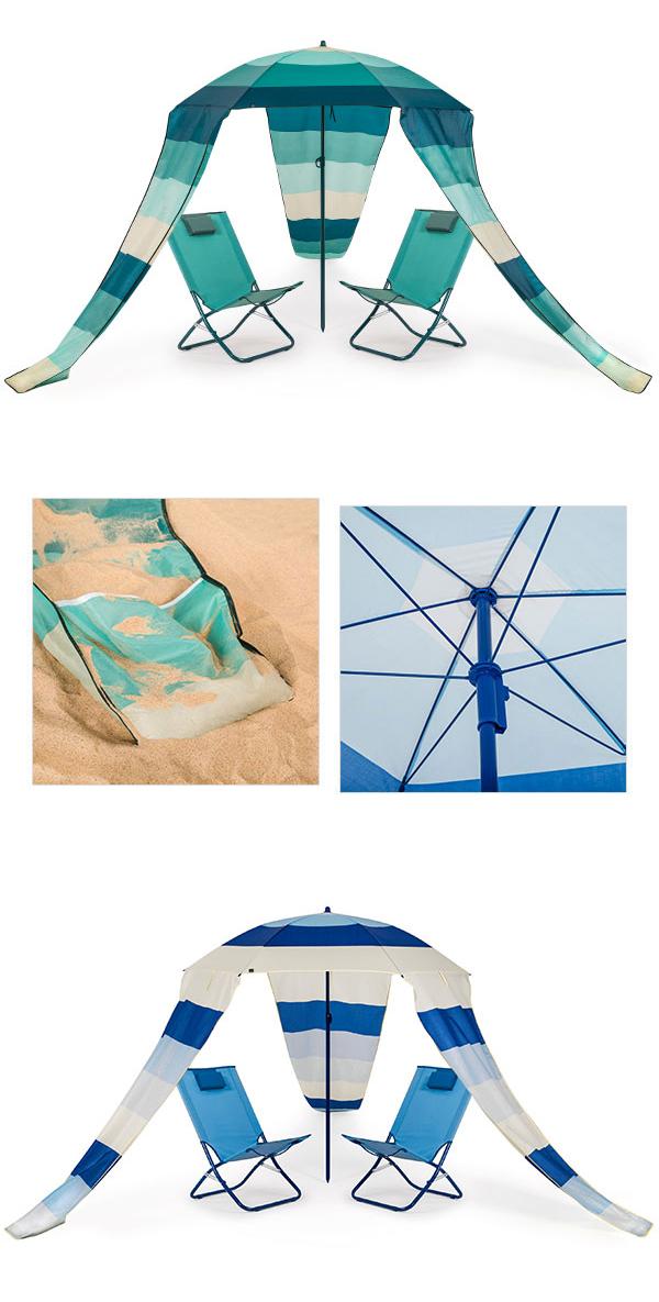 sonnenliege set strandliege 2 liegen sonnenschirm gartenliege relaxliege maui ebay. Black Bedroom Furniture Sets. Home Design Ideas