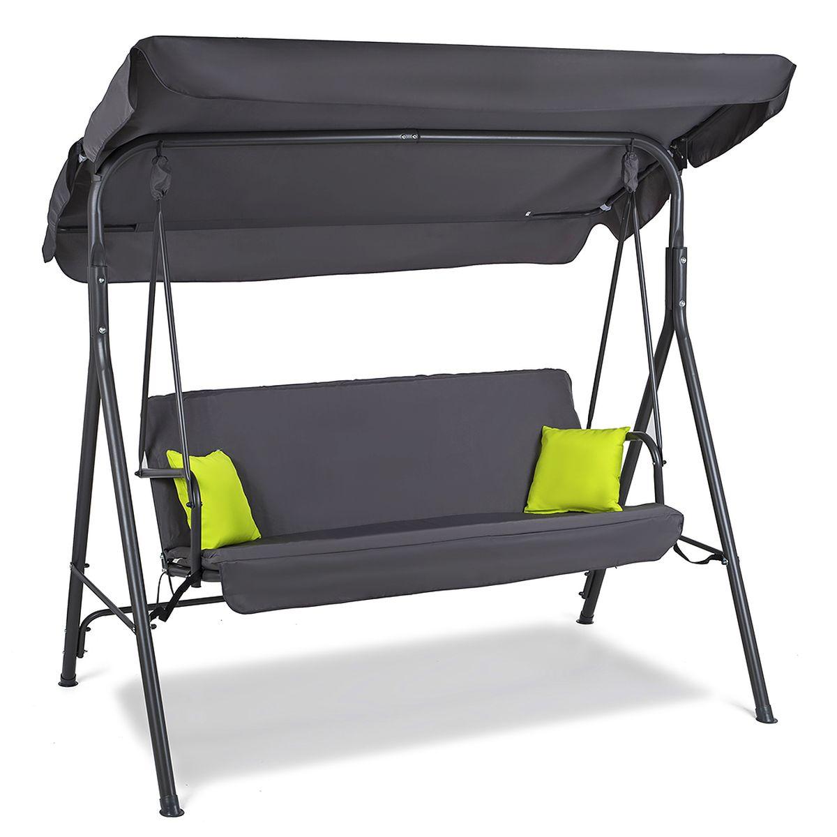 Swing Seat Garden Swing Swing Bench 3 Sitzer 2 Cushion Schadowline Plus Ebay