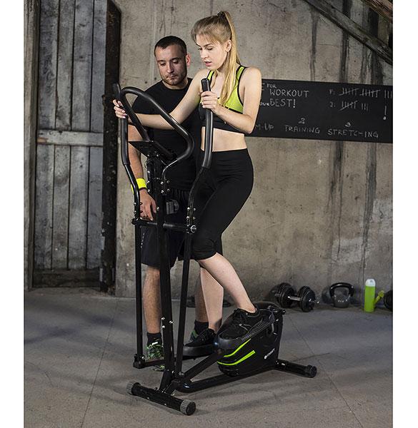 Cross trainer home ergometer elliptical gym apparatus for Crosstrainer ergometer tornado 465