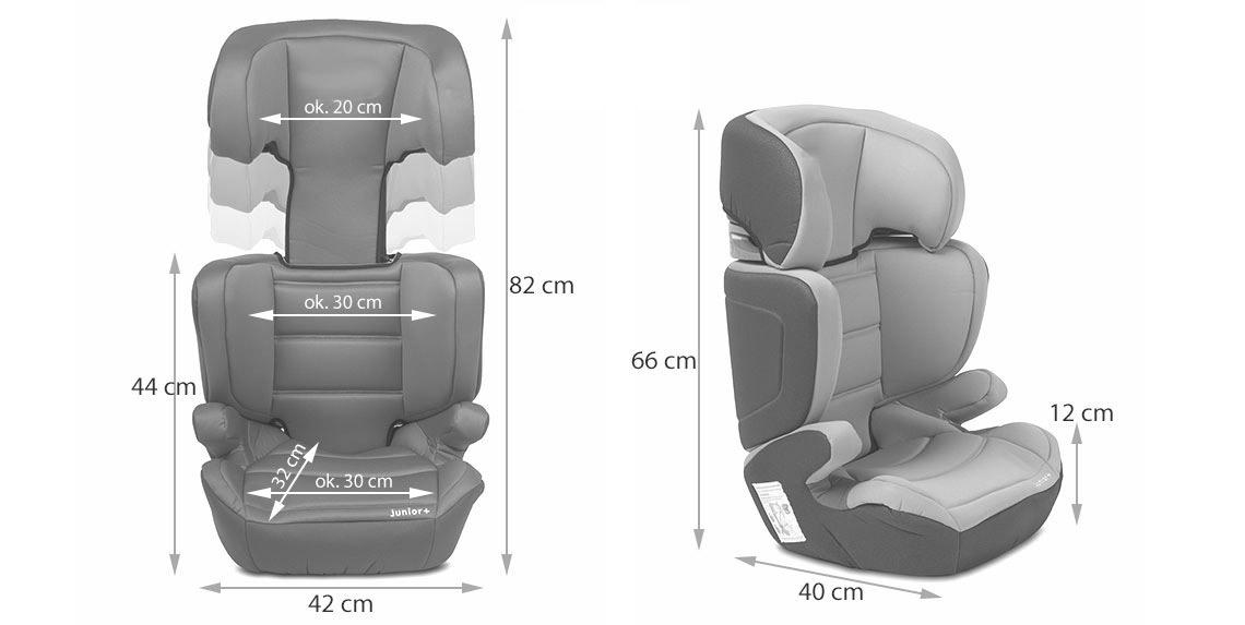 kinderkraft si ge voiture pour b b 15 36kg de chaise enfant top junior gris ebay. Black Bedroom Furniture Sets. Home Design Ideas