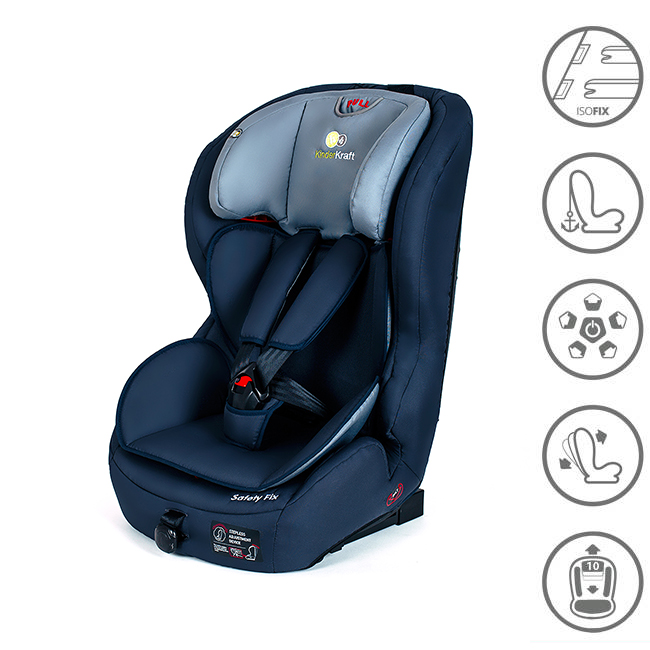 kinderkraft safetyfix dunkelblau isofix kinderautositz 9 bis 36 kg gruppe 1 2 3 ebay. Black Bedroom Furniture Sets. Home Design Ideas