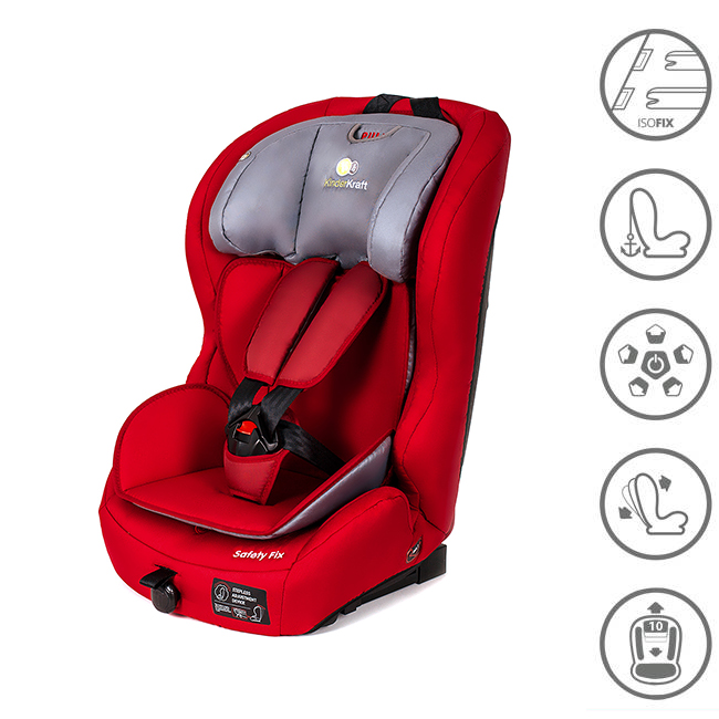 enfants si ge de voiture isofix rouge 9 36 kg groupe 1 2 3 kinderkraft safetyfix ebay. Black Bedroom Furniture Sets. Home Design Ideas