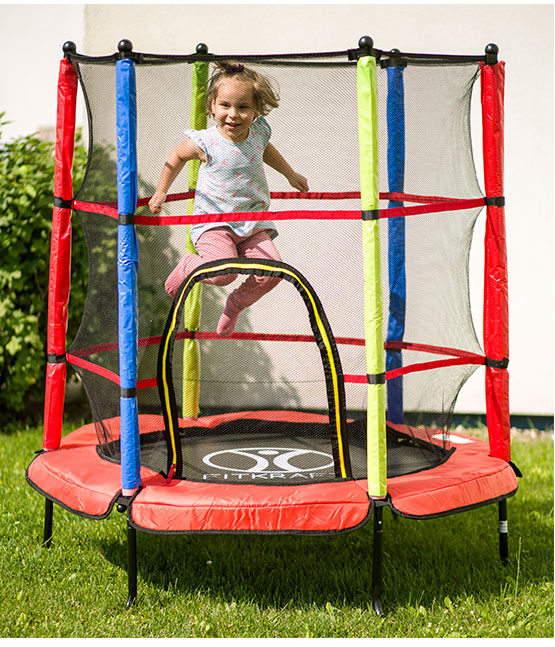 outdoor garten trampolin 140 cm f r kinder komplettset mit sicherheitsnetz neu ebay. Black Bedroom Furniture Sets. Home Design Ideas