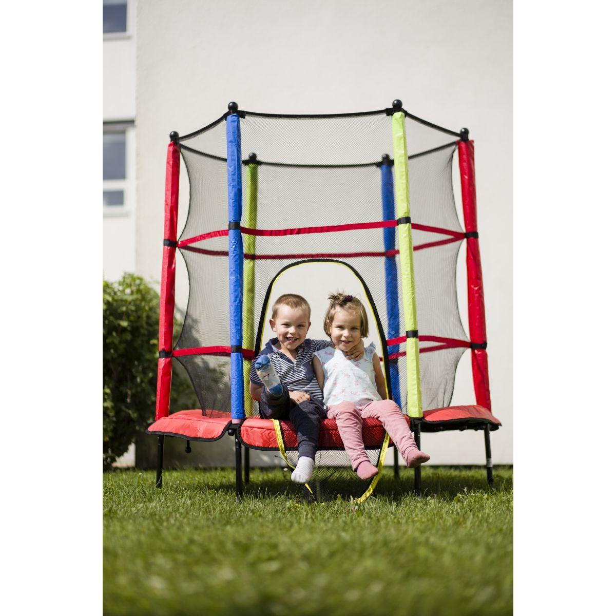 outdoor garten trampolin 140 cm f r kinder komplettset mit sicherheitsnetz neu ebay. Black Bedroom Furniture Sets. Home Design Ideas