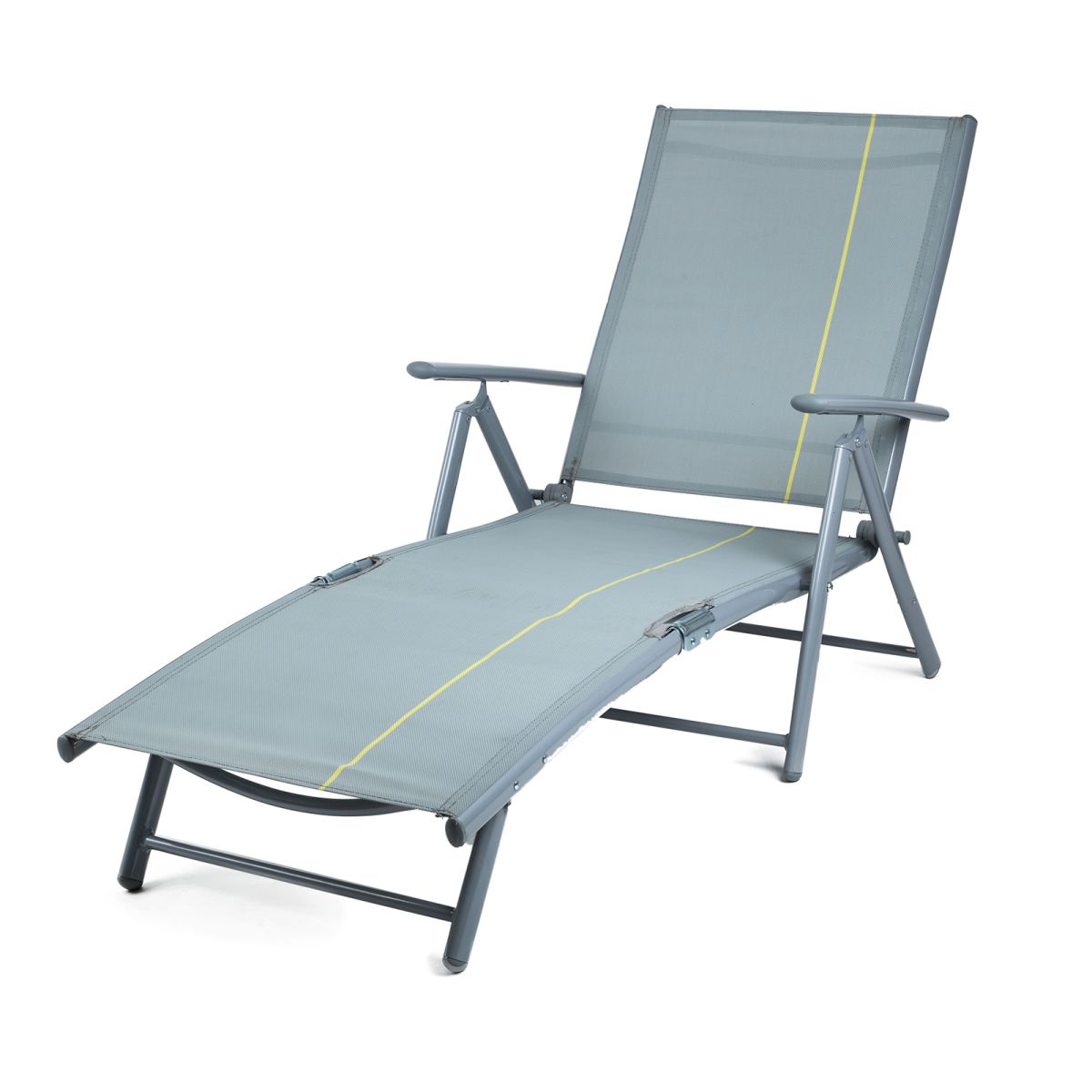 Garden sun deck chair chaise lounge relax lounger for Beach chaise lounger