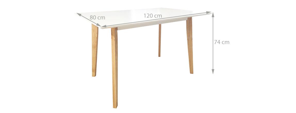 Manger Table De Salle A Cuisine 120cm Moderne Homekraft Jovik Blanc