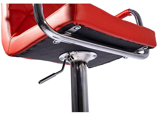 Set di due sgabello bar schienale sedia allungabile cromo tendo